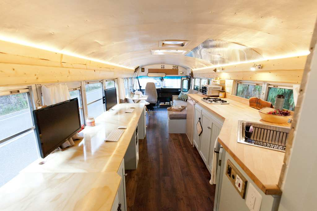 Couple Builds Dream Home With 8900 A School Bus
