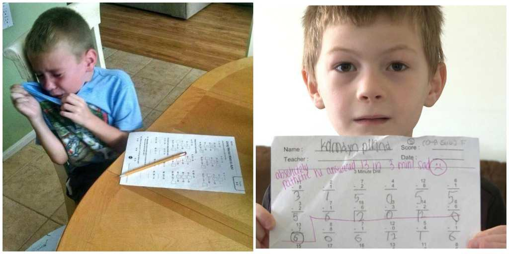 Down With Homework Teachers Viral Note >> After Teacher Leaves Rude Comment On Boy S Homework His Dad Calls