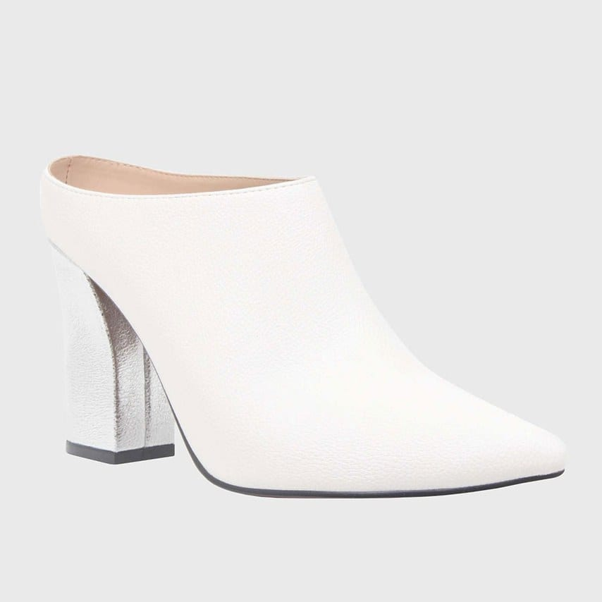 Trisha-Pointed-Toe-Silver-Heel-Mules,-$34.95,-Who-What-Wear-available-at-Target