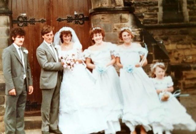 One of Mick and Tracey Hepworth's Stolen Wedding Photos
