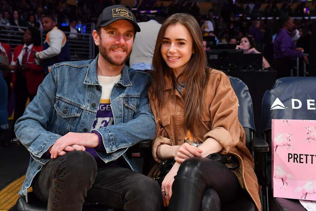 Lily Collins & her fiancé Charlie McDowell