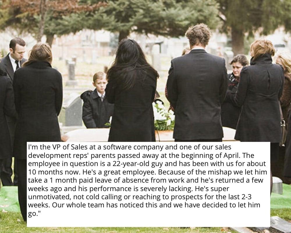 Firing a Bereaved Employee