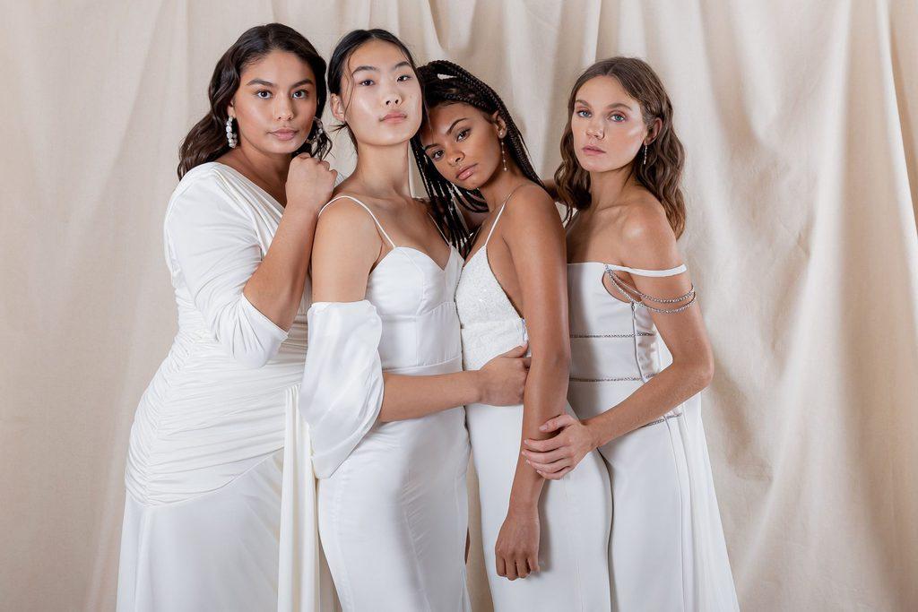 The Models Wearing Polk's Bridal Line