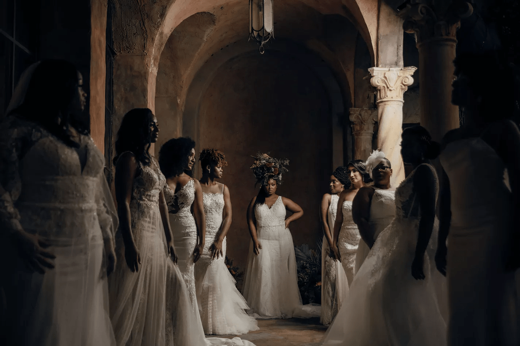 Black is King inspired bridal campaign