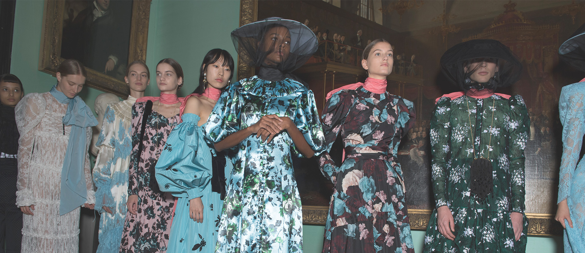 Victorian gowns from Erdem's spring 2019 show