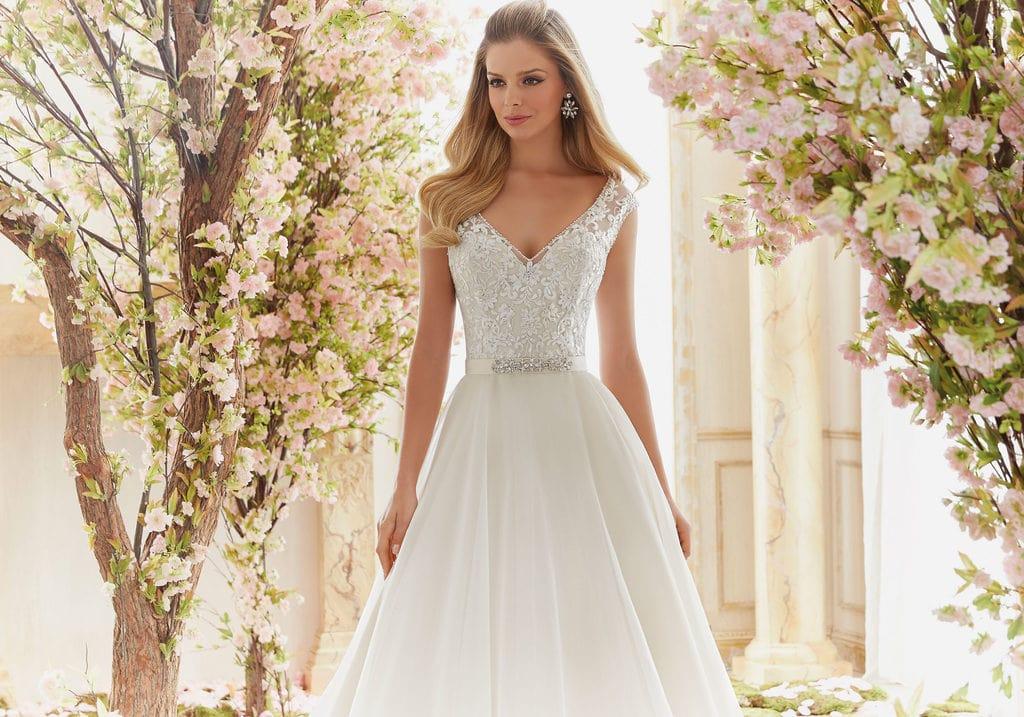 wedding dress with a belt
